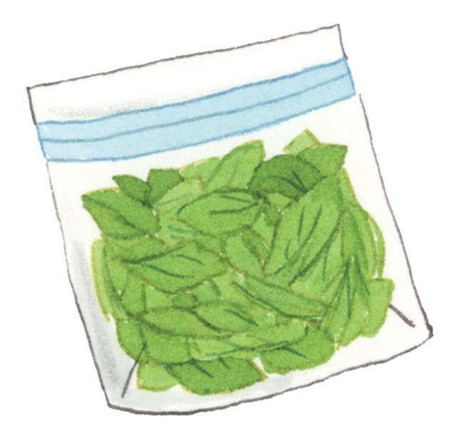 画像: 冷凍保存するときは カットすると便利