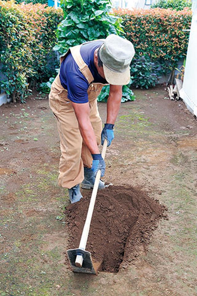 画像2: かたい土を起こす