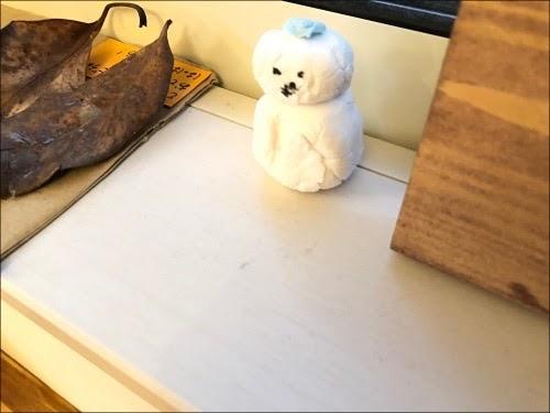 画像: いびつな雪だるま