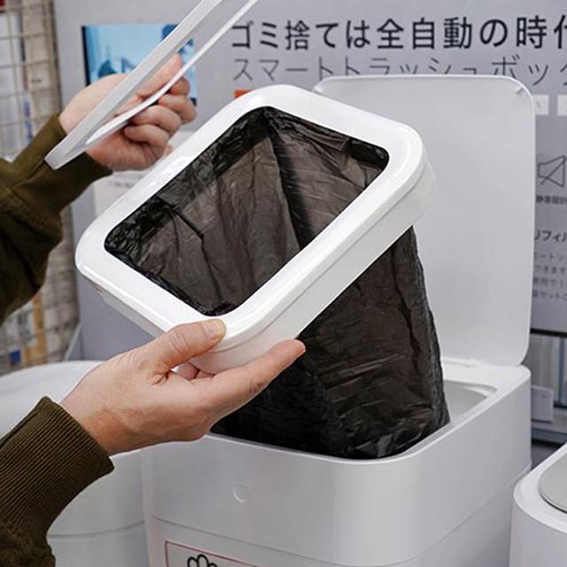 画像: カートリッジには長いゴミ袋が。1回分ずつカットされていく仕組み。