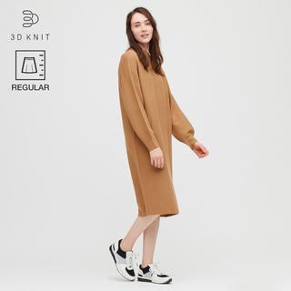 画像: 【ユニクロ】3Dコットンバルーンスリーブワンピース購入レビュー! 今っぽさは襟元デザインとスカート丈がポイント