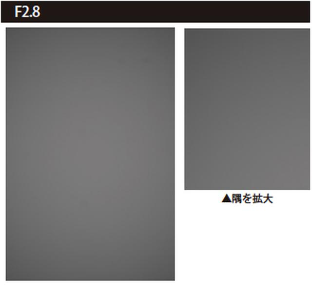 画像: 周辺光量落ちのチェック方法