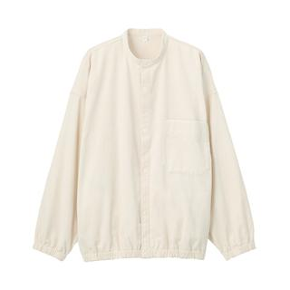 画像: 【無印良品】そろそろ春先まで着られるアウターを準備!インド綿コーデュロイスタンドカラーシャツ購入レビュー