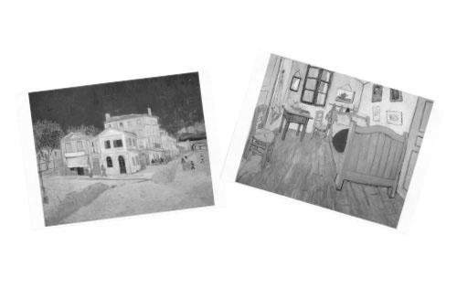 画像: 年齢が上がるとともに、テーマに沿った写真や絵を描いたカードを使って単語を増やせるようになる。この方法なら、レプリカや、実際に手に入るものでなくてもできる。ここに挙げたカードは、「ヴィンセント・ヴァン・ゴッホ」の絵がテーマ。1歳半頃から
