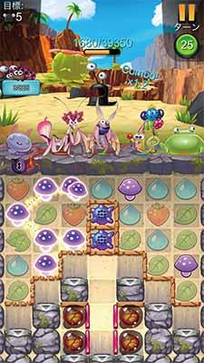 画像: 虫の世界を題材にしたタイルつなぎ系のパズル。課題が豊富で、課金せずにいつまでも遊べる。