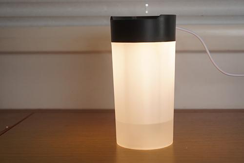画像: 写真のように電源ボタン長押しでライトもつきます。ただし、筆者は現状、この機能は使っていません。