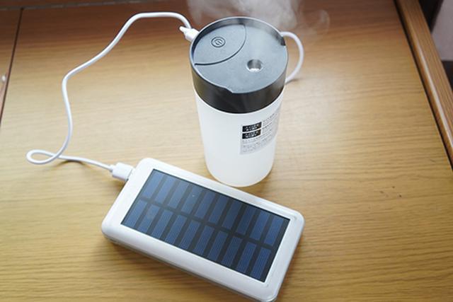 画像: USBタイプのモバイルバッテリーからも給電可能。これで設置場所の自由度がさらにアップします。