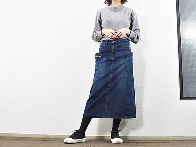 画像: 裏起毛で暖かい「ウォームキャンプスカート」