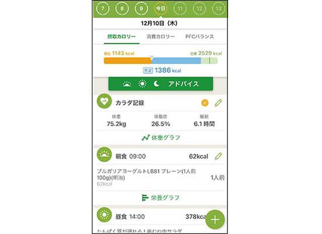 画像2: レコーディングダイエットをサポートする体重管理アプリ