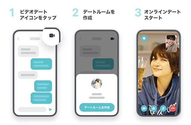 画像: Pairsの「ビデオデート」機能。個人的な連絡先を交換せずにビデオ通話ができる。 www.pairs.lv