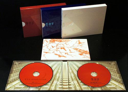 画像: 「傷物語」三部作のBD(完全生産限定版)。他のシリーズとは異なるデザインとなっている。