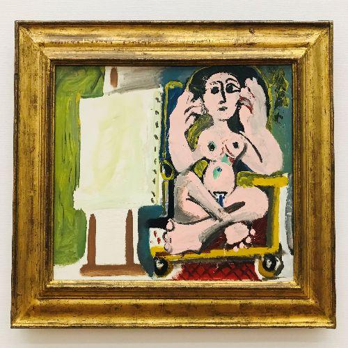 画像: 落ち着いた美術館の雰囲気が好きです。独創的な絵画にも魅力を感じます。