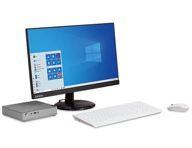 画像: ミニPCなら、パソコン本体と離れた場所にディスプレイやキーボードを設置して、自分にとって作業のしやすいパソコン環境を作り上げられる。 www.lenovo.com