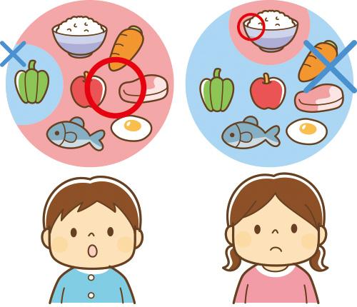 画像: 偏食とは食べられるものが極端に少ない状態。