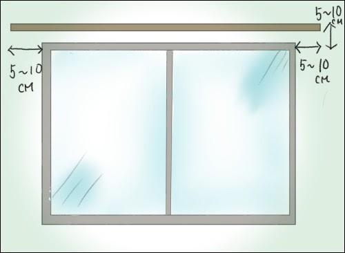 画像: レールは窓枠の外側から片側5~10cmほどの長さがはみ出ていると◎