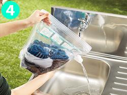 画像: コックがあるので排水も楽! ④キャップを外して排水、注水してすすぎ。