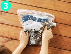 画像: 密封できるから、もみ洗いが可能! ④もみ洗いまたは30~60分ほどつけ置き。