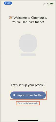画像: Twitterアカウントとの連携が可能。