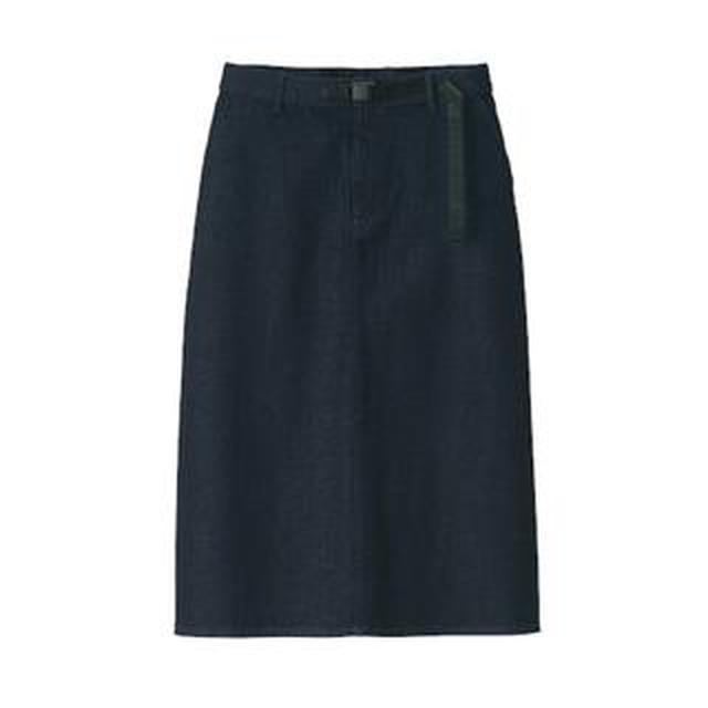 画像: 【無印良品】縦横ストレッチで履き心地抜群!冬用デニムロングスカート購入レビュー!