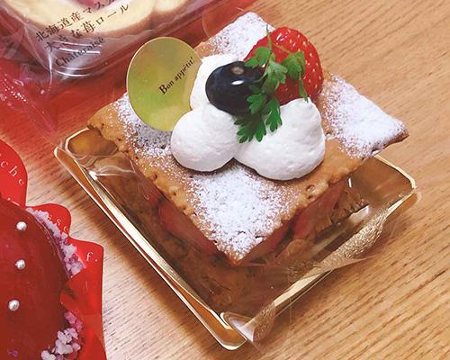 画像: 発酵バターが香る 苺のミルフィーユ 470円(税込507円)