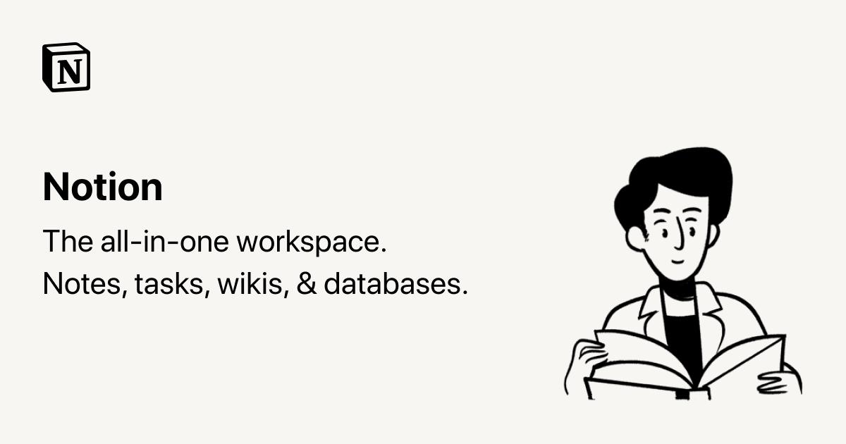 画像: Notion – The all-in-one workspace for your notes, tasks, wikis, and databases.
