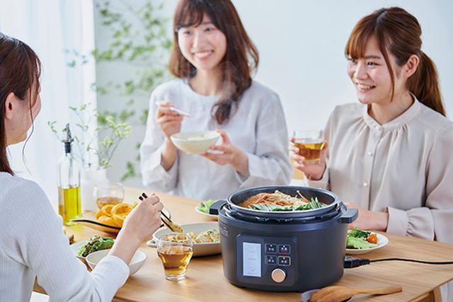 画像: 5段階の火力調整が可能な「なべモード」で、卓上鍋としても使えて便利だ。