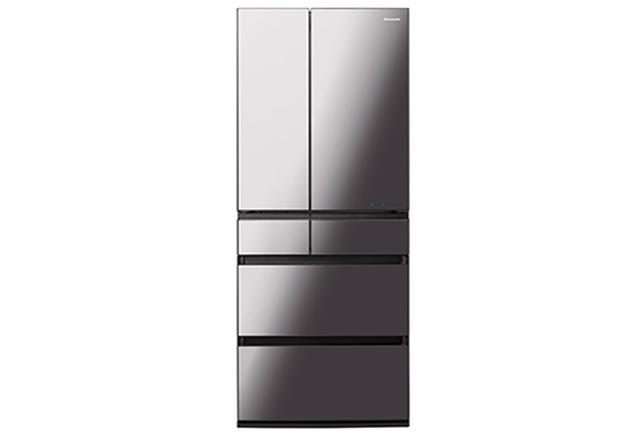 画像: 庫内容量650リットル(横幅75センチ)と600リットル(同68.5センチ)の2モデルを用意。約マイナス3℃の低温で肉や魚などを7~14日まで新鮮に保存できる「微凍結パーシャル」や、「ナノイーX」による脱臭・除菌機能など、多彩な機能を搭載するIoT冷蔵庫。