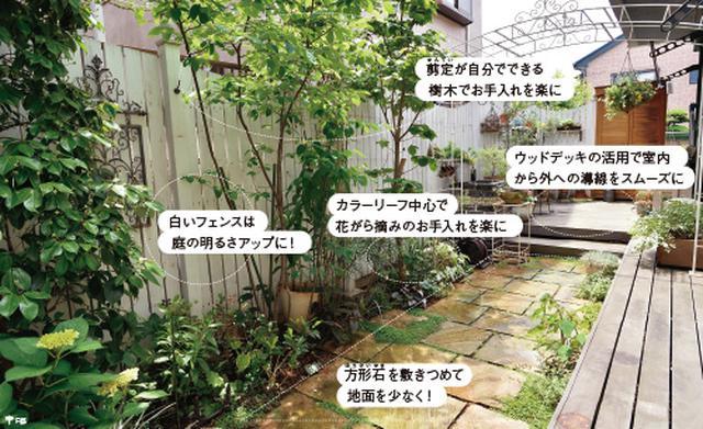 画像1: ローメンテナンスの庭の実例 植栽スペースを限定した手間をかけない庭づくり