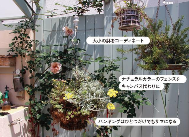 画像2: ミニチュアガーデンの実例 縦空間を活用して狭い庭を快適に演出