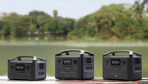 画像: ラインアップは3モデル。左からEcoFlow RIVER(288Wh)、EcoFlow RIVER Max(576Wh)、EcoFlow RIVER Pro(720Wh)。