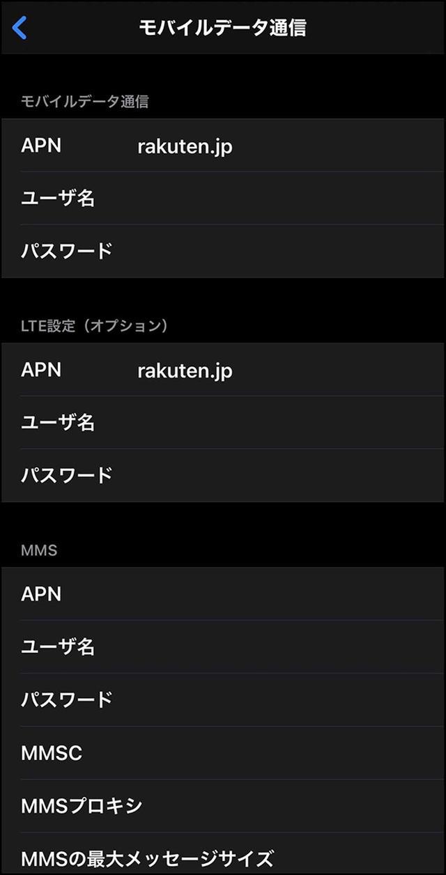 画像: APN欄に所定のドメインを入れる。