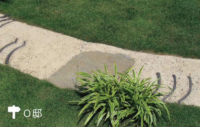 画像: 芝生と真砂土のコントラストが美しい