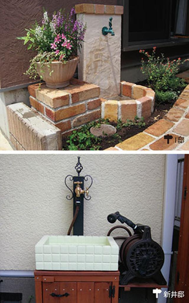画像: フォーカルポイントにもなる立水栓