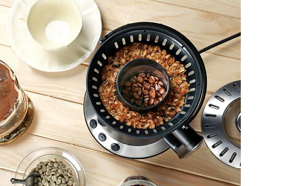 画像: 深煎り/中煎りのチョイスが可能。豆の薄皮(チャフ)も捨てやすい。