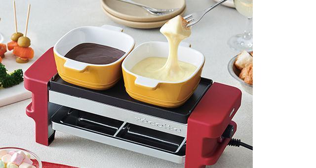 画像: 付属のココット(耐熱容器)を使えば、フォンデュ系もOK。バーニャカウダなども作れ、家に居ながら、外食気分が盛り上がる。