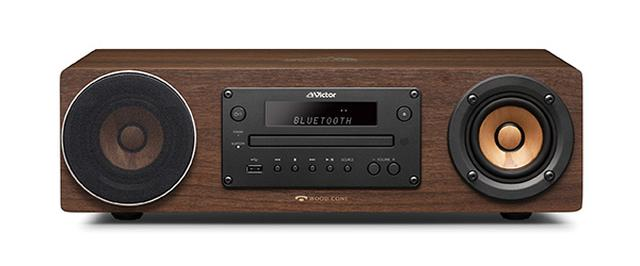 画像: ウッドコーン初となる一体型システム。スピーカー、アンプ、CDプレーヤー、ラジオ受信、ブルートゥース、USBなど、一とおりの機能を搭載する。