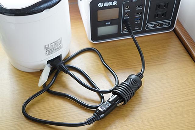 画像: より効率を上げるための専用ケーブル