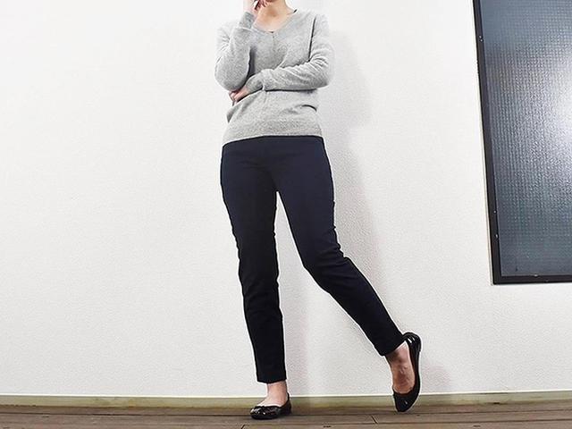 画像: 足がきれいに見える「縦横ストレッチチノボーイフィットパンツ」