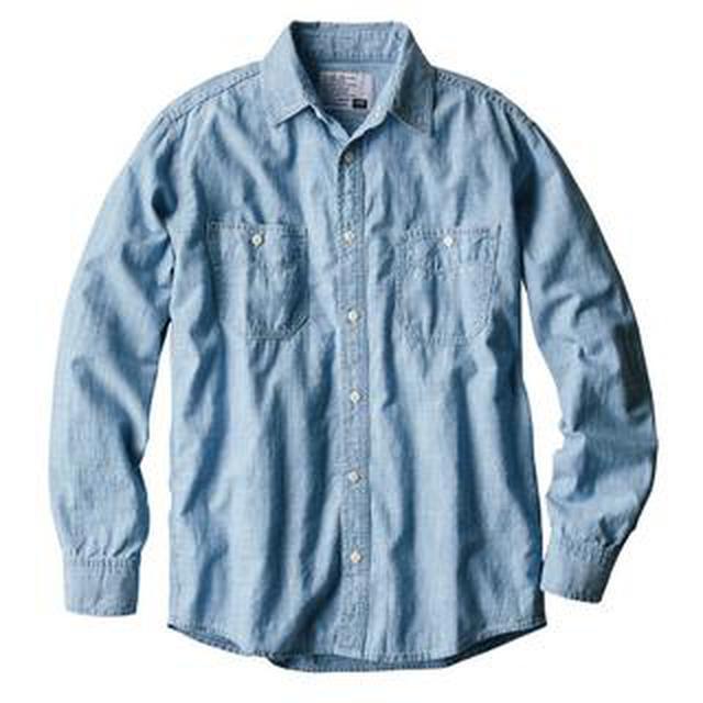 画像: 【ワークマン】デニムより軽やか!春コーデに追加したい「シャンブレー長袖シャツ」購入レビュー