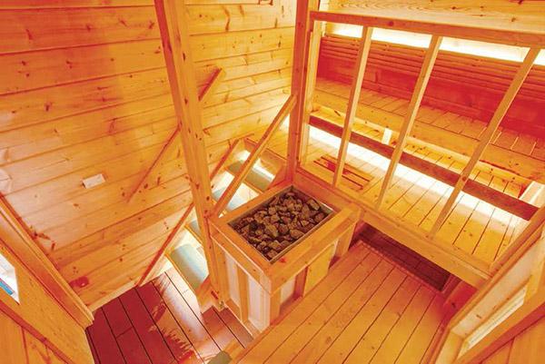 画像: 上の席からロウリュのできる設計