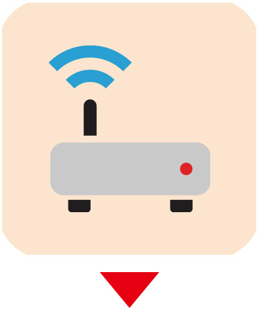 画像: ⑤Wi-Fiルーター 自分で用意したWi-Fiルーターは、ホームゲートウェイにLANケーブルで接続すればいい。