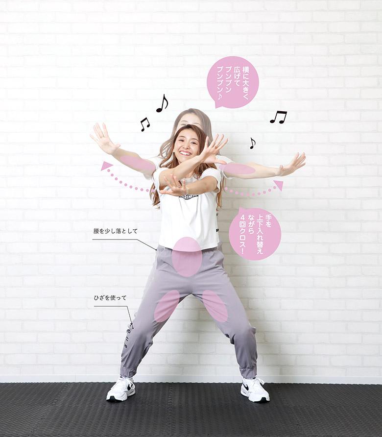画像3: ③ 1:38 >>> アームダンス