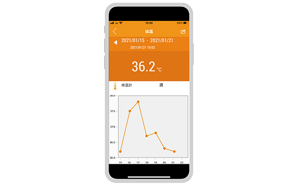 画像1: 健康管理の基本は毎日の検温。IoT体温計を使えばラクラク