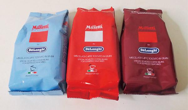 画像: ムセッティ社のコーヒー豆6種類から好みのコーヒー豆3種類を選ぶことができる。