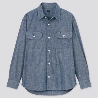画像: 【ユニクロ】春コーデの定番!着回し力抜群の長袖シャンブレーワークシャツ購入レビュー!
