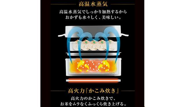 画像: 底面の強力ヒーターで「かこみ炊き」を実現。1合炊飯+おかず温めで20~24分で仕上がる。