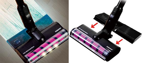 画像: 別売のマルチウォーターモップ装着及び使用イメージ