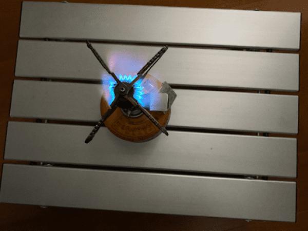 画像: 一つの区画の炎が消えても、他の区画で補います