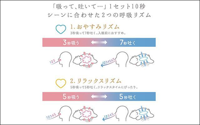 画像2: 呼吸リズムを整えて、安眠に導いてくれる