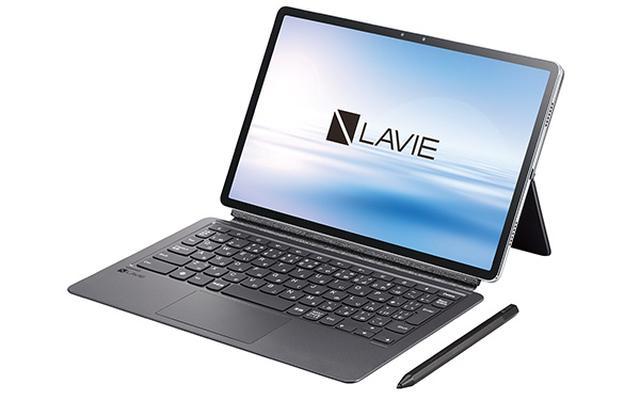 画像: 別売オプションとしてデジタルペン(実売価格例7670円)とキーボード(同1万970円)も用意。ペンは4096段階の筆圧検知対応、キーボードは無段階式のスタンドも備えた本格派だ。